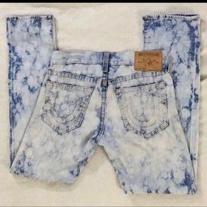 True Religion Geno Slim Fit Acid Wash Jeans